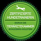 Zertifizierte Hundetrainerin durch die Tierärztekammer Schleswig-Holstein